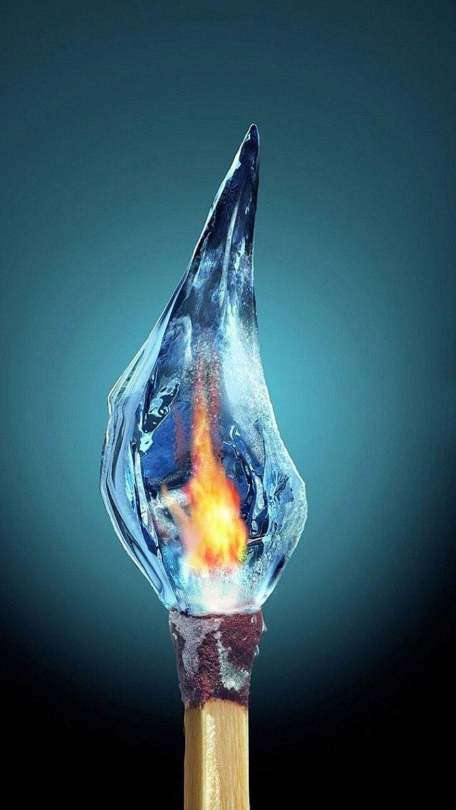凍りついた炎 スマホ壁紙 Iphone待受画像ギャラリー 火と氷 炎 イラスト スマホ壁紙