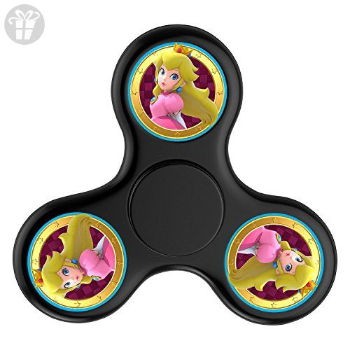 Hand Toy Super Mario Peach Lightweight Stress Reducer Finger Spinner