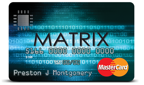 The Matrix credit card is designed for people with less