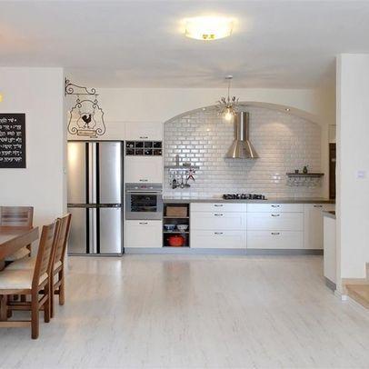 Light Hardwood Floors White Cabinets Open Design Kitchen