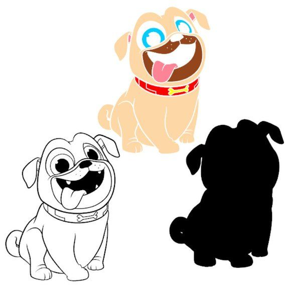 Rolly Svg Layered Puppy Dog Pals Dxf Vector Cut Files Cricut Designs
