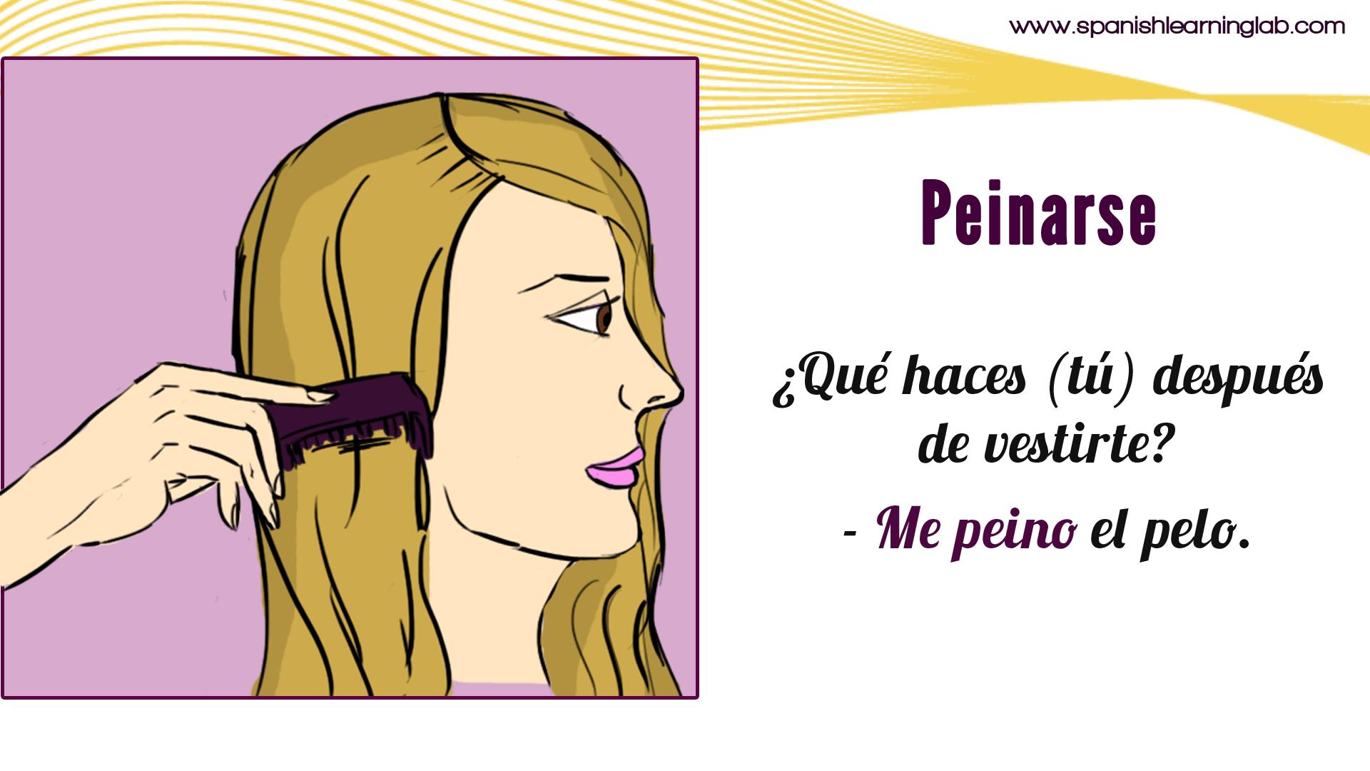 How To Conjugate A Spanish Reflexive Verb Like Peinarse It Should Be Like This Yo Me Peino Tu Te Peinas El Learning Spanish Daily Routine Spanish [ 1080 x 1920 Pixel ]