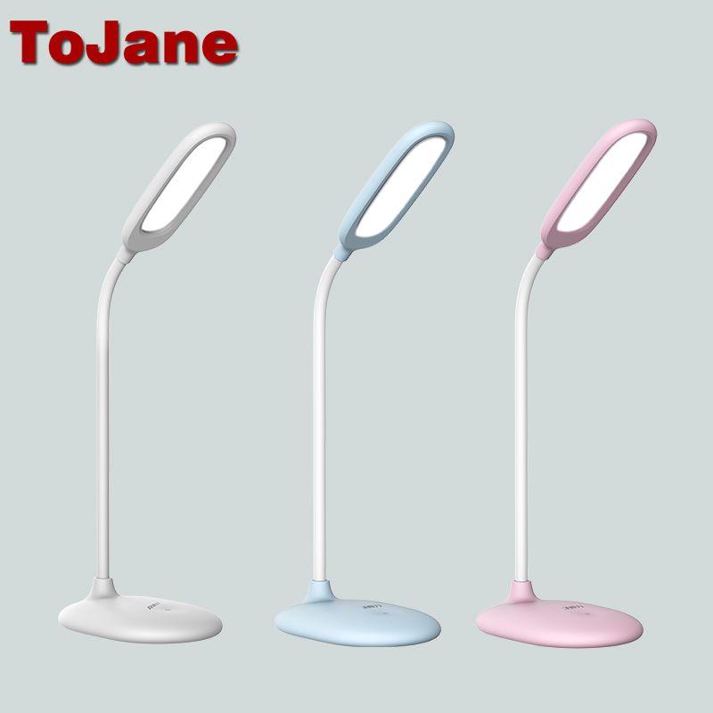 Tojane Tg108 C Dipimpin Lampu Baca 5 W Isi Ulang Dipimpin Lampu Meja 3 Tingkat Kecerahan Kontrol Sentuh Led Meja Cahaya La Led Desk Lamp Reading Lamp Desk Lamp