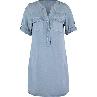 8b89e35b42 Lina Tomei Sky Blue Shirt Dress