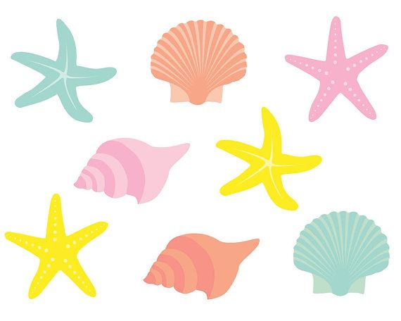starfish clipart clip art shells clipart clip by theclipartpress rh pinterest co uk seashell clip art free images sea shell clip art images