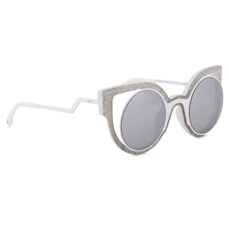 Fendi PARADEYES Ff0137s White Glitter Silver Mirrored Sunglasses Optyl 0137 for sale online | eBay