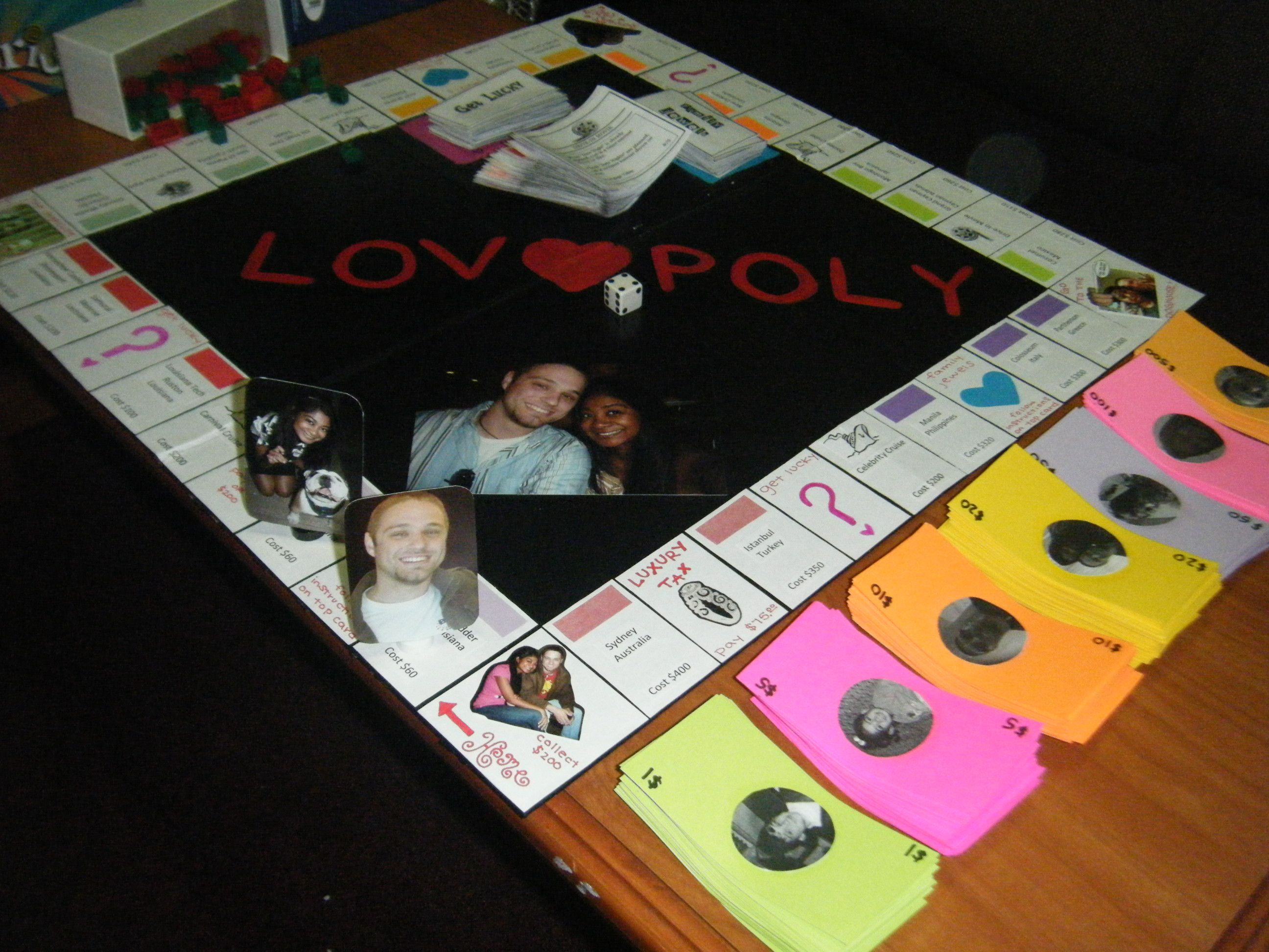 Diy lovopoly board game anniversaries gaming and gift