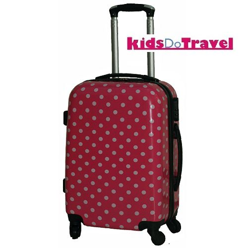Polka Dot Pink and White Cabin Luggage at KidsDoTravel ...