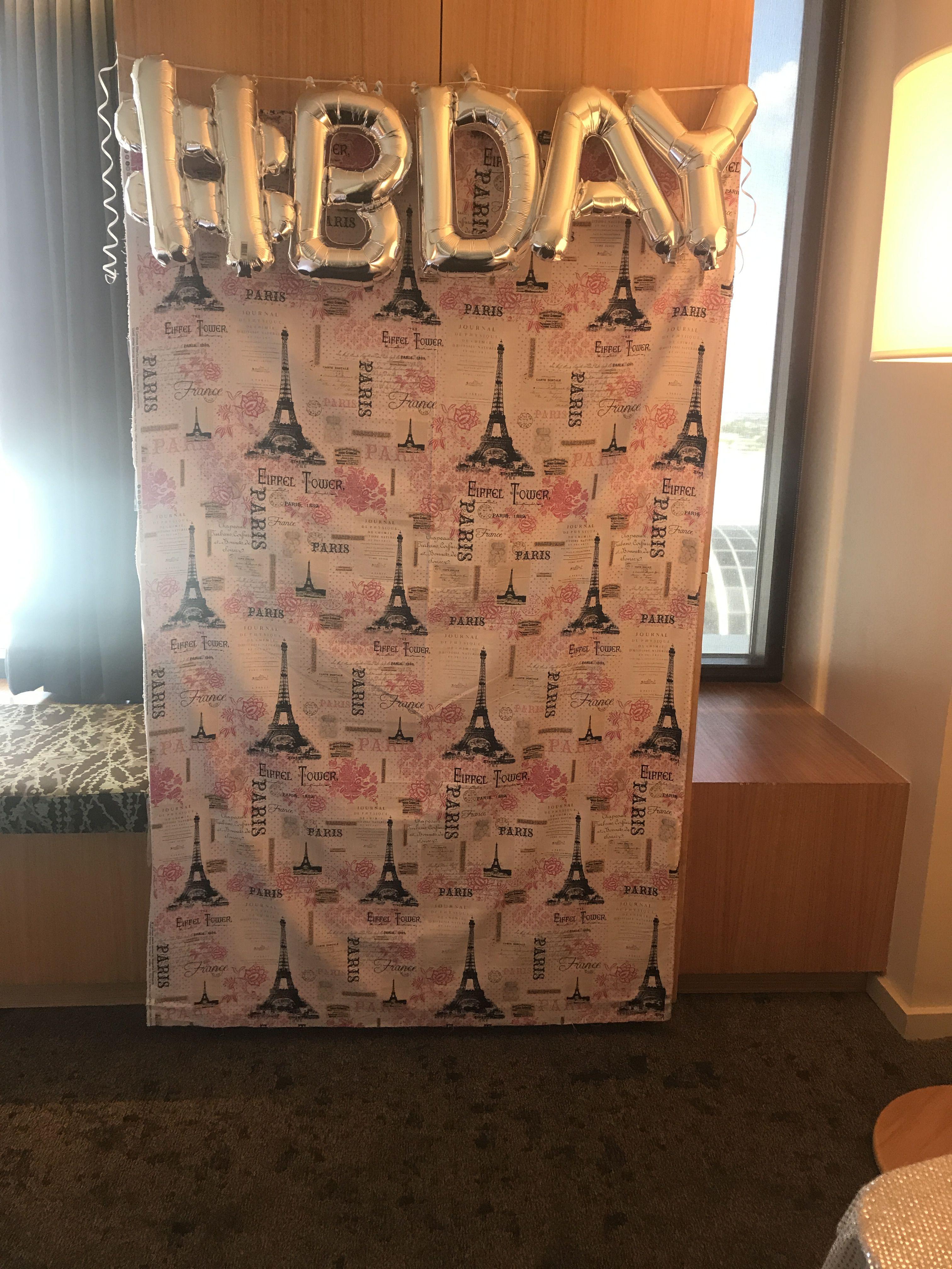 Diy paris themed photo backdrop bday balloons at target