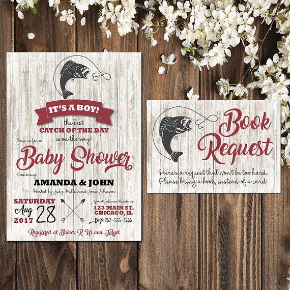 Fish Themed Baby Shower Invitations: Fishing Baby Shower Invitations