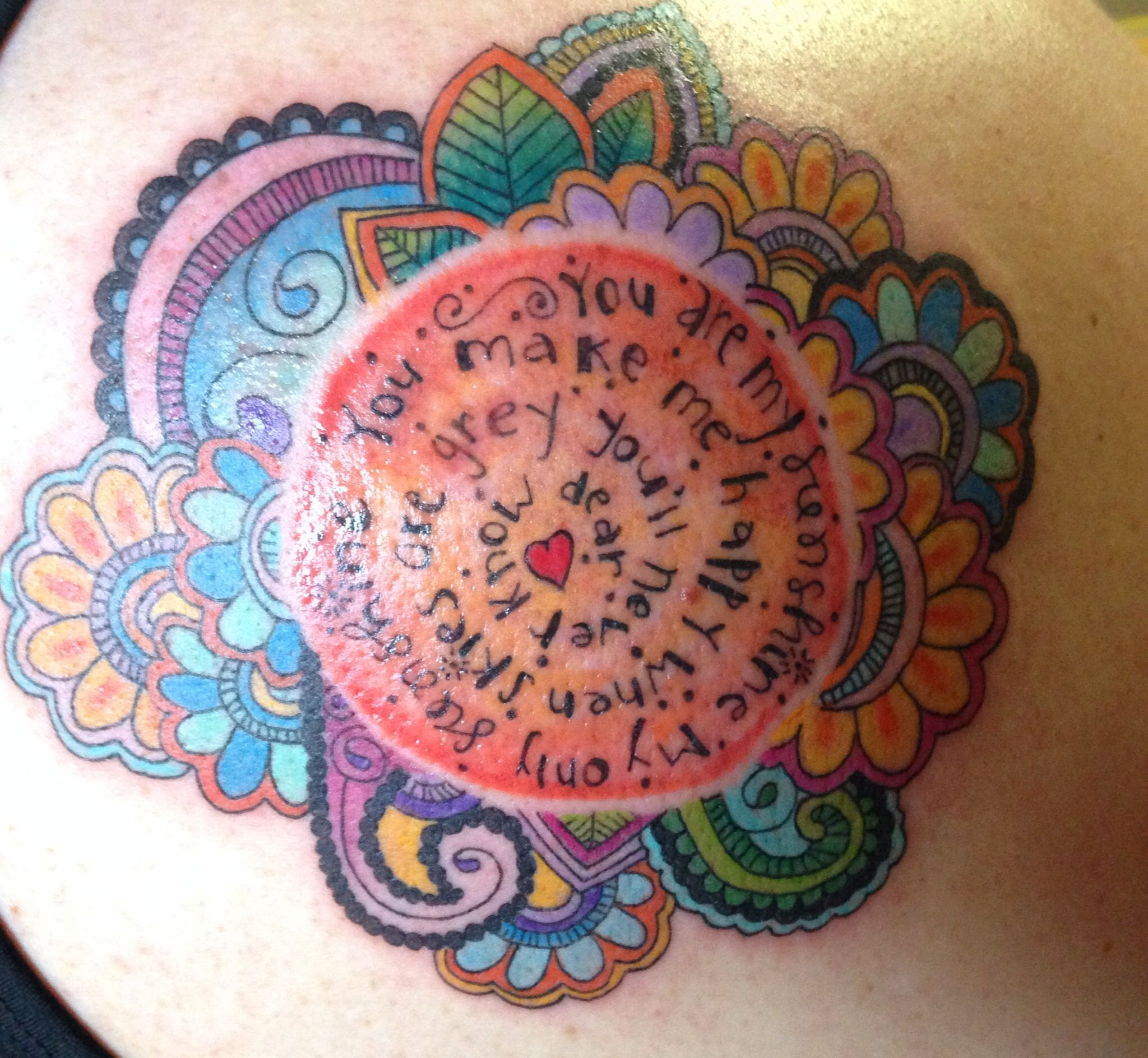 Tattoo Ideas You Are My Sunshine: You Are My Sunshine Tattoo, Something Like This But With