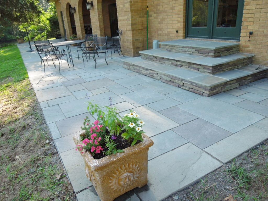 Full Color Patio U0026 Steps With Colonial Stone Risers