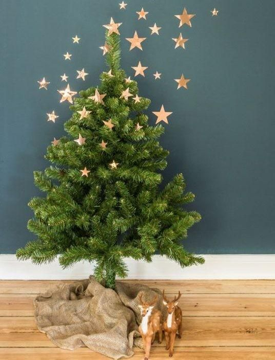 Oooooh How Magical Is This Tree Wall Decor Not Only Copper Star Whimsical It Also Cuts Down On All That Work Of Decorating The Lower