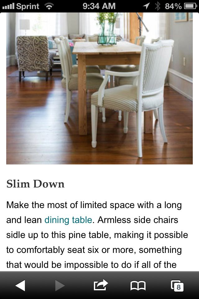 Long lean table
