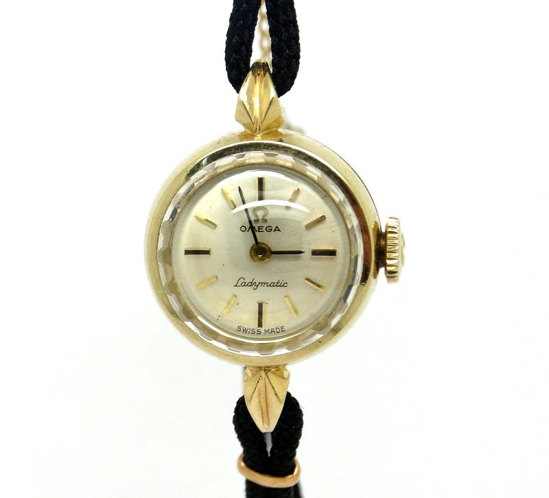 VINTAGE LADIES OMEGA LADYMATIC AUTOMATIC WATCH 14K GOLD FILLED ...