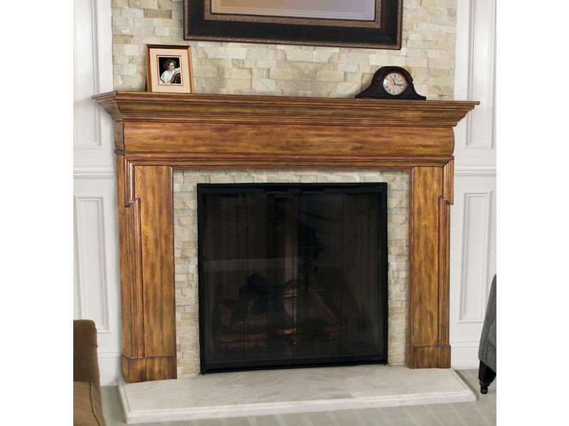 Wood Fireplace Mantels Ideas | fireplace mantel surround | Fireplace Ideas
