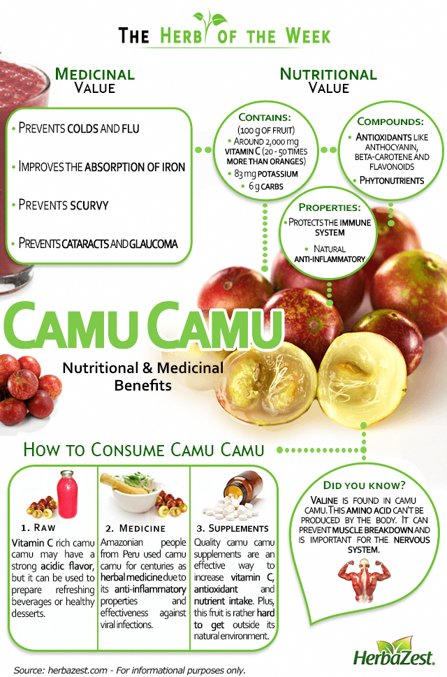 Infographic: Camu Camu This fruit is the best source of vitamin C you could find. #detoxinfographic