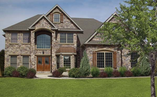 Ply Gem Stone veneer home   Exterior house colors   Pinterest ...