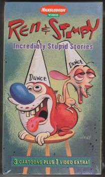 The Ren Stimpy Vhs Tape Lv 49251 Incredibly Stupid Stories 1995 Sealed Bill Wray Cover Art 6 Nickelodeon Cartoons Nickelodeon Cartoon