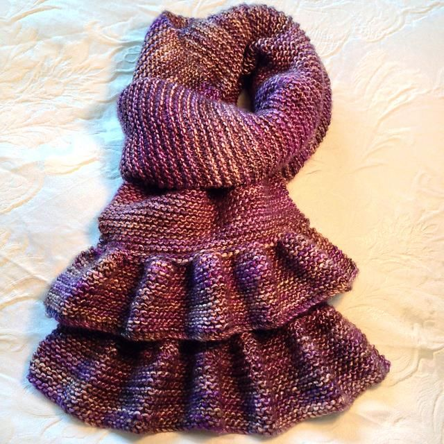 Simple Short Ruffled Scarf Pattern By Bea Naretto Ruffles Scarves