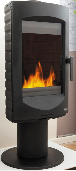 The New Eden Freestanding Cast Iron Wood Heater By Cheminees
