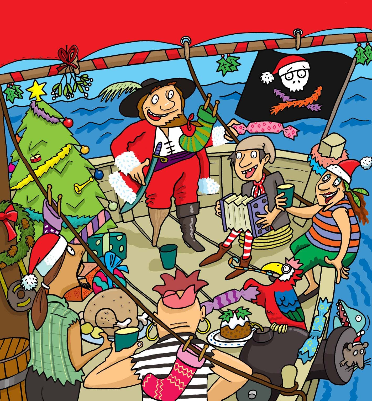 Pirates- Photoshop Illustration Book Jacket design for a Childrens Fun Book, published in Ireland. www.bretthudsonart.com