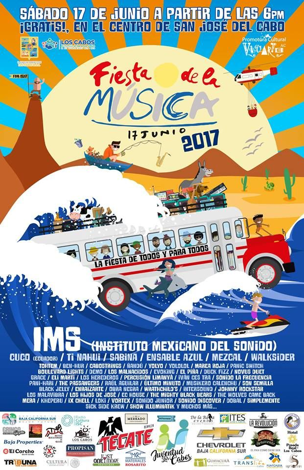 Fiesta de la Musica Los Cabos 2017, 17-jun, Plaza Mijares, San Jose del Cabo