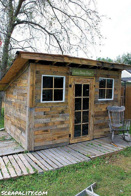Projet de cabane de palettes pour le jardin 2 bricolage pinterest cabanes palette et le - Cabane pour jardin orleans ...