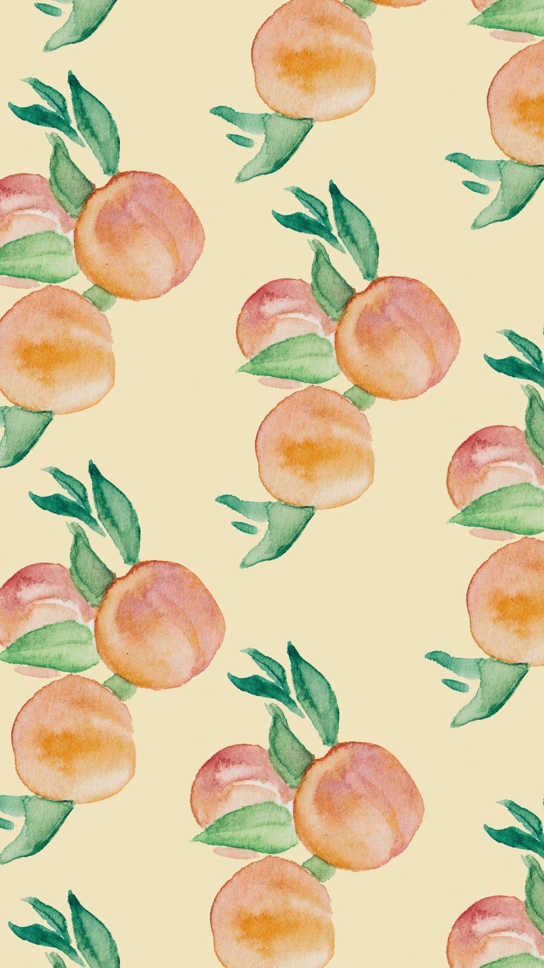 [Freebie] Watercolor Wednesday Phone Wallpapers Peachy