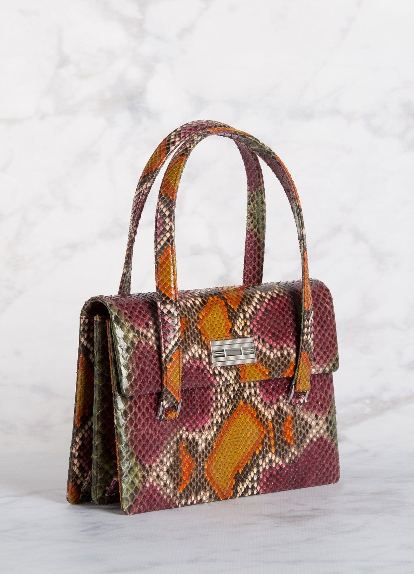 Python Monogram Handbag Designer Handbags Couture Bags Purses