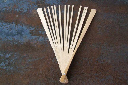 Natural Wood Bamboo Fan Sticks Make Your Own Summer
