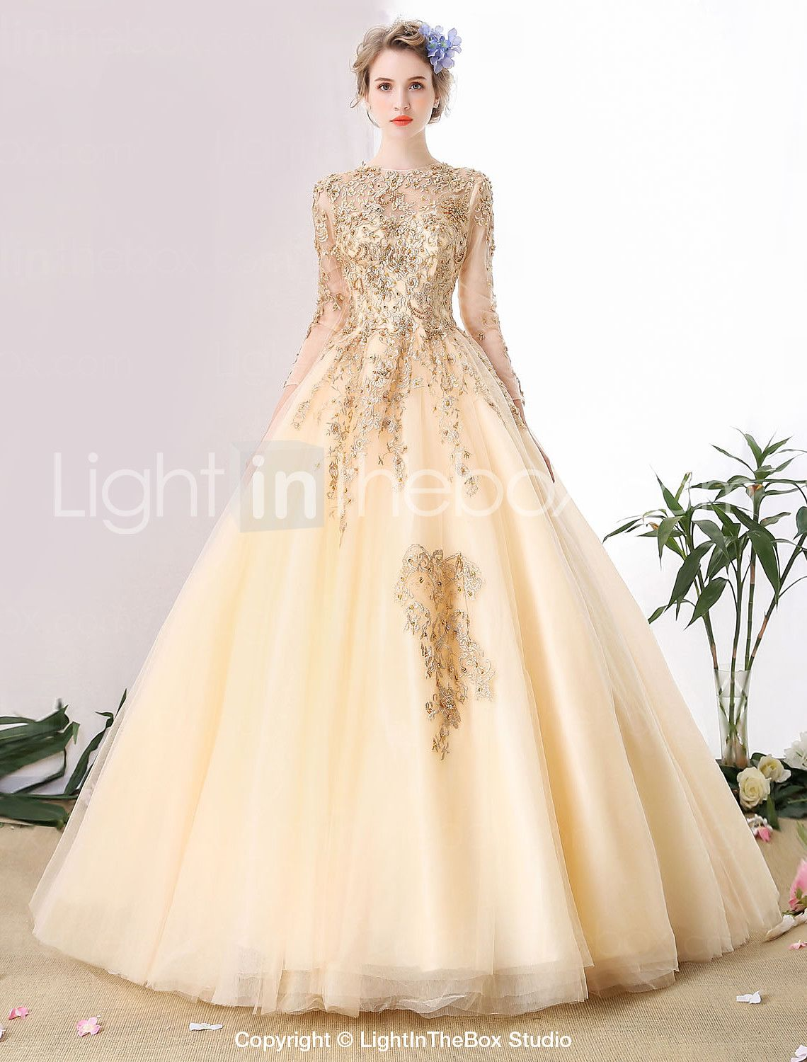 Superb Ball Gown Wedding Dress Cathedral Train Scoop Tulle with Beading Lace u