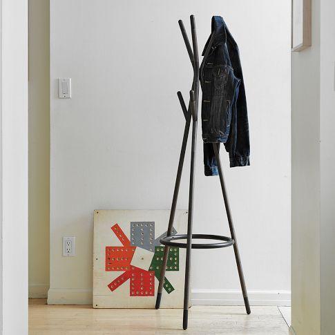 metal tipped coat rack modern coat