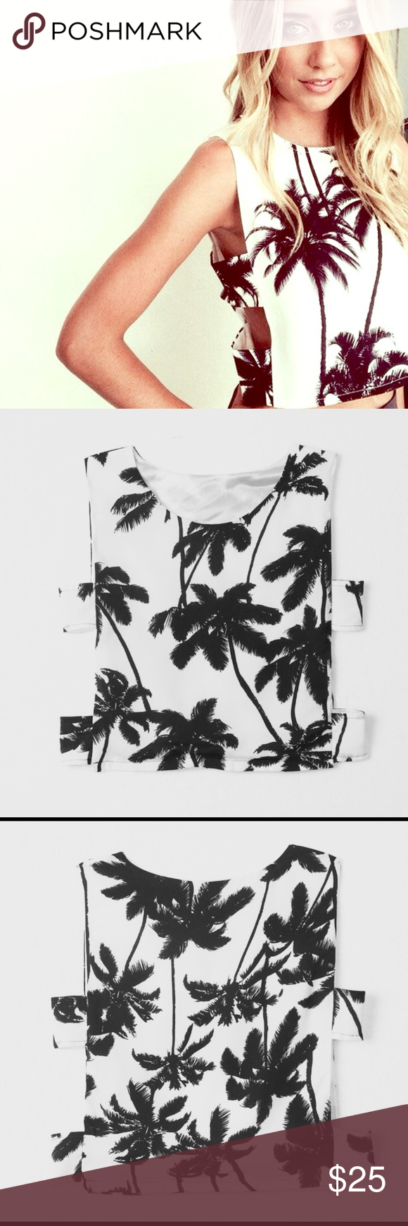 Palm Tree Top w/ Side Cutouts 🌴 Clothes design, Fashion