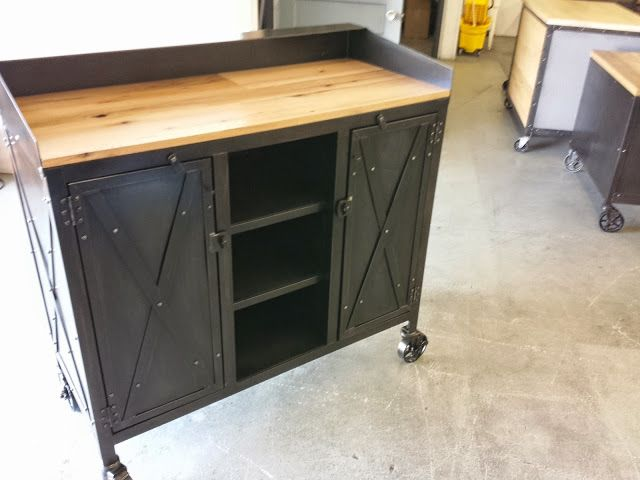 Real industrial edge furniture hostess stand for