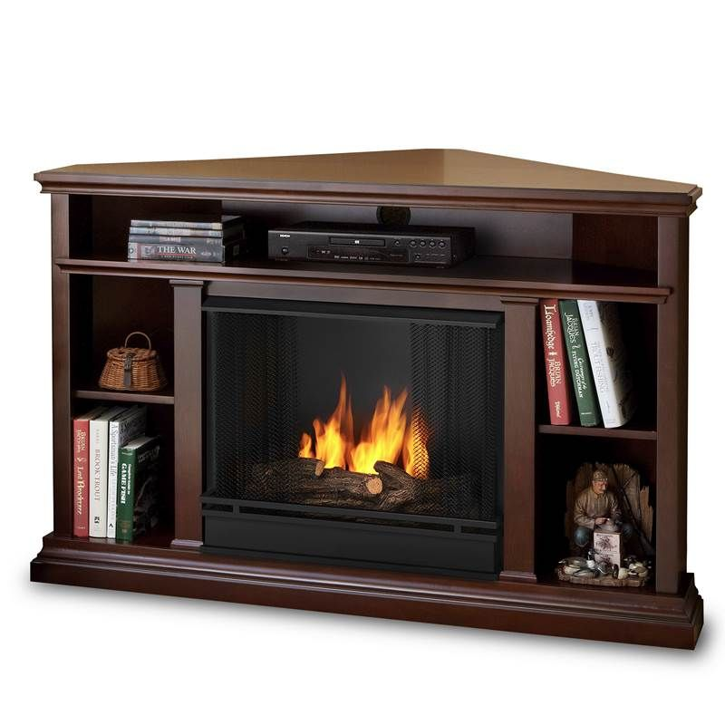 Corner Fireplace With Tv Real Flame Churchill Corner Ventless Tv Stand Gel Fireplace