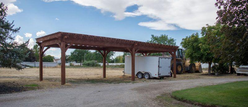 Building an Easy DIY RV Cover Pergola, Backyard pergola
