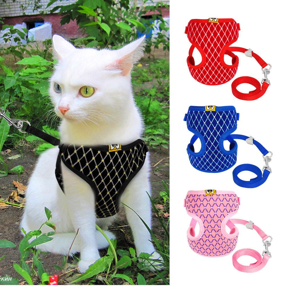 Cat Walking Jacket Harness And Leash Pets Puppy Kitten Clothes Adjustable Vest Puppy Harness Small Dog Harness Pet Harness