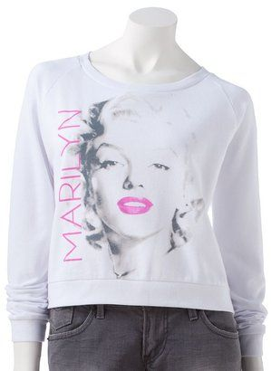 Freeze marilyn monroe crop sweatshirt