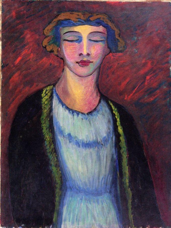 The Athenaeum - Portrait of a Girl (Marianne von Werefkin - )