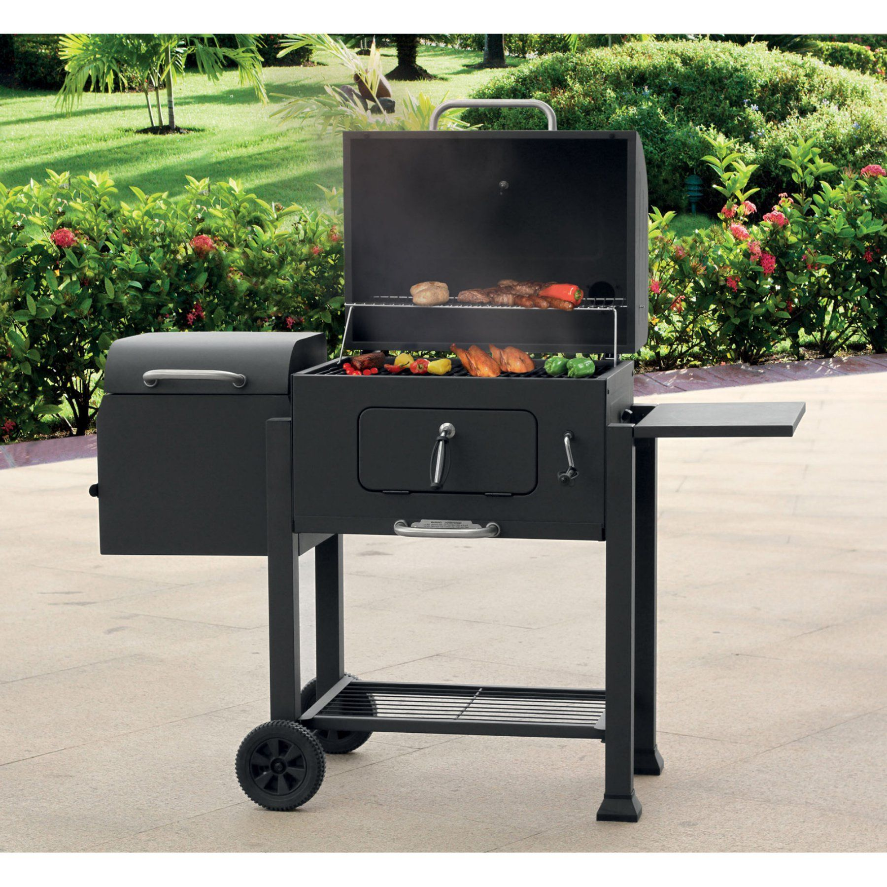 Landmann USA Vista Barbecue Charcoal Grill with fset Smoker Box