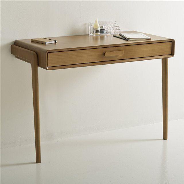 bureau console vintage colas la redoute interieurs bois fonc ch ne bureau desk. Black Bedroom Furniture Sets. Home Design Ideas