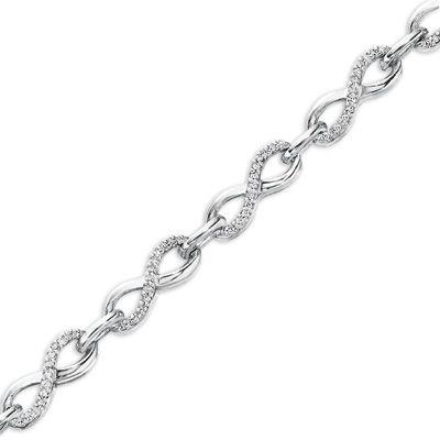 Zales Infinity Link Necklace in Sterling Silver Htd9Ku