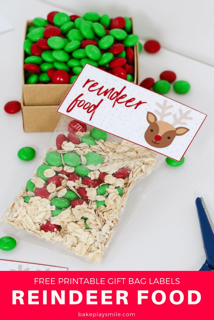 Reindeer Food - Free Christmas Printable Gift Bag | All HOLIDAY All ...