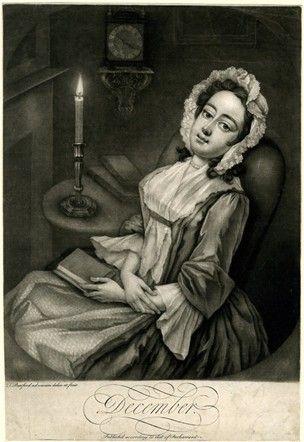December - Print by T. Burford 1745