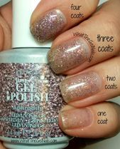 Farbfelder mit 4 IBD Just Gel Polish Glitters
