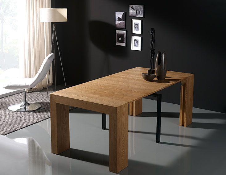 Mesa consola extensible hogar y muebles mesas de - Mesas grandes de comedor ...