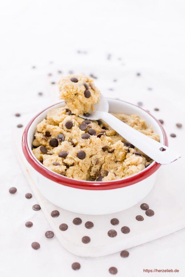 Keksteig Zum Loffeln Cookie Dough Teig Selbermachen Kuchnia