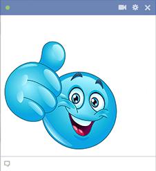 Amazing Facebook Chat Smileys Smiley Blue Emoji Emoticon Faces