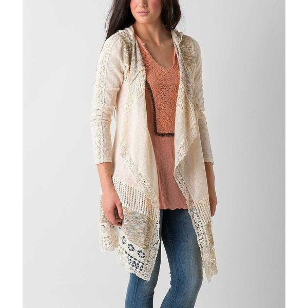Miss Me Pieced Cardigan Sweater ($74) ❤ liked on Polyvore ...